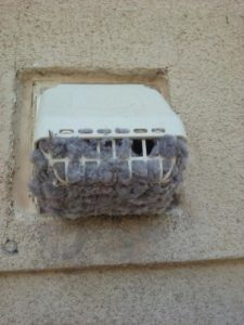Dryer Vent lint Cleaning clogged-with-lint